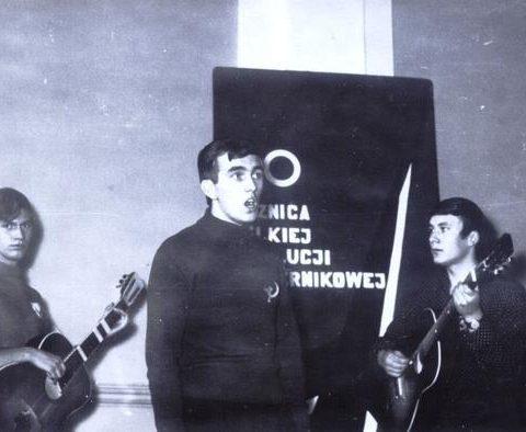 Janek Nowaczyk, Krystian Motyliński i Mietek Małecki na jednej z ówczesnych akademii