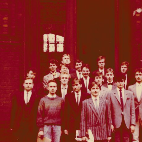 Rozdanie świadectw, czerwiec 1988r, klasa Vc_2