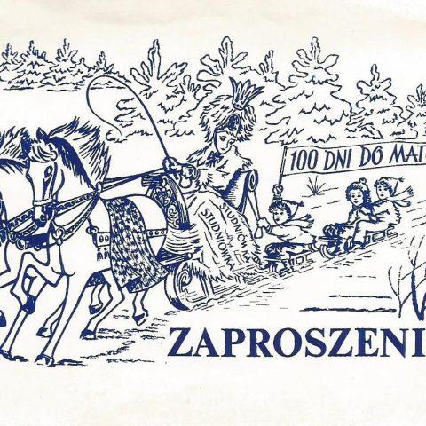 TB kl. Vc - 1988.02 - zaproszenie na studniówkę (1)