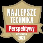 Złota tarcza - logo - Najlepsze Technika 2021